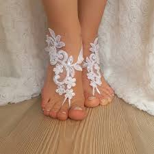 barefoot sandals for wedding white lace barefoot sandals wedding barefoot wrist lace