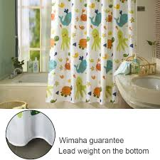 s zone shower curtain with 12 hooks for bathroom decor mildew proof polyester fabric inch printed animals tortoise fish pattern