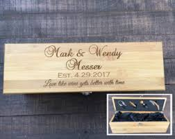 engravable box custom wine box etsy