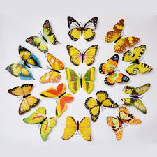 buy karp removable 12 pcs 3d butterfly wall sticker magnet art buy karp removable 12 pcs 3d butterfly wall sticker magnet art design decorative butterfly sticker decal for home decor yellow color online at low prices
