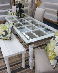 table with glass doors what could be done with these doors door bench bench and doors