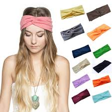 headbands for hair accessories twist elasticity turban headbands for women sport