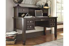 Home Office Desks Townser Home Office Desk Hutch In Grayish Brown By Ashley Hutch