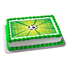 soccer cake soccer cake topper soccer edible cake image soccer cupcake