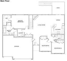 New House Floor Plans Floor Plans For Ranch Homes For 130000 Hubbell Homes Building