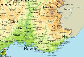 French Riviera Map Map Of Provence France Recana Masana