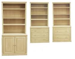 Wood Bookshelves With Doors by Unfinished Bookcases Solid Wood Unfinished Bookcases