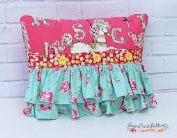 Custom Girls Bedding by Cottage Chic Pillow Cover Decorative Pillow Throw Pillow