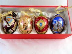 joan rivers ornaments set of 4 russian faberge eggs