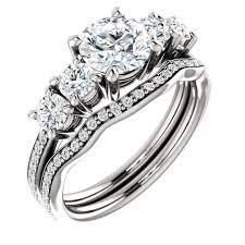 White Gold Cz Wedding Rings by Cubic Zirconia Cz Gold Cubic Zirconia Rings
