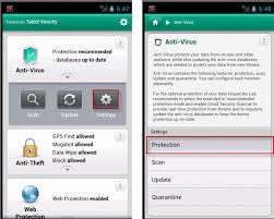 android protection how to enable disable real time protection in kaspersky tablet