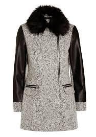 biker coat clothing at tesco f u0026f faux fur collar biker coat u003e coats