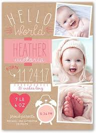 baby girl announcements best 25 birth announcement template ideas on