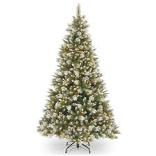 national tree company 6ft feel real frosted alaskan pine hinged