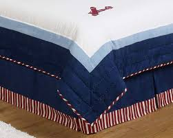 Airplane Bedding Twin Red White And Blue Vintage Aviator Airplane Childrens Bedding 4