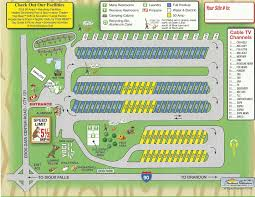 Sd Map Maps And Directions Sioux Falls Camp Jellystone Park Campground
