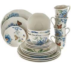 lenox butterfly meadow 20 pc porcelain dinnerware set page 1