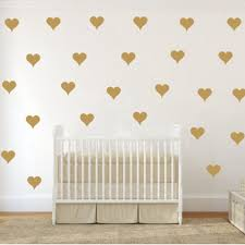 aliexpress com buy free shipping stark vinyl decal game of free shipping metallic gold wall stickers heart shaped pattern vinyl wall decals nursery art decor