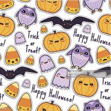 repeating background halloween cute halloween kawaii pattern seamless vector art getty images