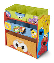 amazon com delta children multi bin toy organizer sesame street