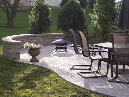 curved patio seating wall home design ideas