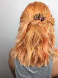 golden apricot hair color 26 pretty peach hair color ideas how to dye your hair peach glowsly