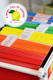 Folders For Filing Cabinet How To Organize The Home Office A Bowl Full Of Lemons