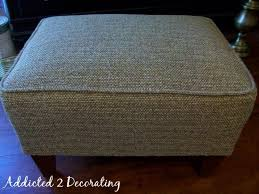 Slipcovers From Drop Cloths Pleated Drop Cloth Slipcovered Ottoman