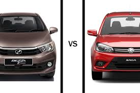 compact cars vs economy cars head to head proton saga premium vs perodua bezza advance 1 3
