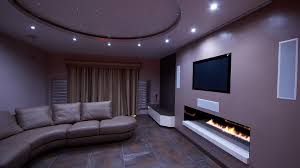 bespoke home cinema with fireplace in yorkshire u2013 finite solutions