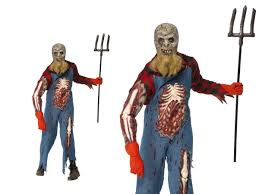 zombie hillbilly costume mens halloween horror fancy dress