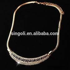 brand gold necklace images Wholesale brand new design turkish necklace jewelry rose gold jpg