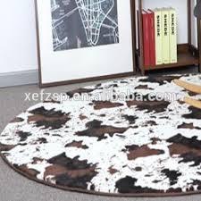 tappeto di mucca antiscivolo rotondo 100 microfibra di poliestere tappeto pelle di