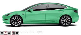 tesla model 3 in any color you want interactive website