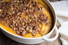 roasted squash casserole with maple nut praline vintage mixer