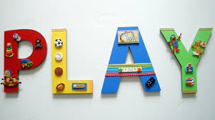 wall art ideas design lettering play game room wall art sports