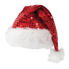 deluxe sequin santa hat accessory for nativity