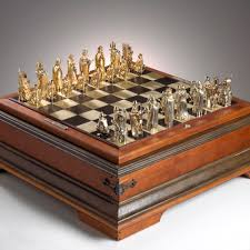 custom made gold chess set by j grahl design custommade com