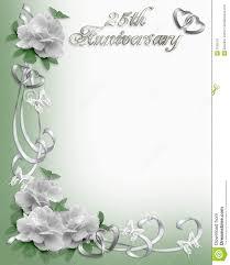 25th anniversary invitation border stock image image 7526701
