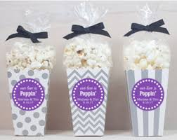 popcorn wedding favors 12 custom popcorn box favors wedding favors personalized