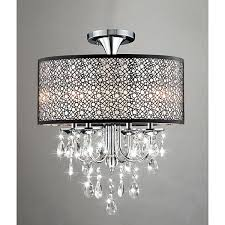 Chandeliers Overstock Bubble Shade Crystal And Chrome Flushmount Chandelier Free