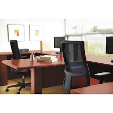Hon Adjustable Height Desk by Hon Iw103nt10 Mid Back Work Chair Fabric Seat 5 Star Base