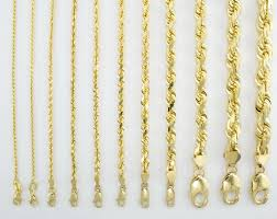 chain rope necklace images 14k yellow gold solid rope chain necklace bracelet 1mm 10mm mens jpg