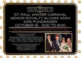 Alumni Meet Invitation Card 2nd Annual Senior Royalty Alumni Association Prime Rib Dinner