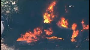 Wild Fire Columbia Gorge by Oregon Train Derailment Spills Oil Sparks Fire 6abc Com