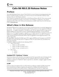 calix b6 release notes r8 0 20 rev 14