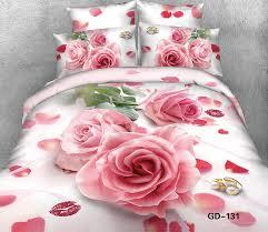 Pink Rose Duvet Cover Set Aliexpress Com Buy 3d Lips Pink Rose Bedding Set Super King Size