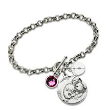 personalized bracelets for personalized photo engraved bracelet sterling silver baby
