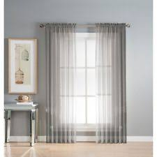 216 Inch Curtains Gray Sheer Curtains Ebay