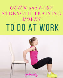 7 strength training exercises you can do in your desk chair